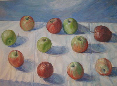 Eleven Apples Art Print
