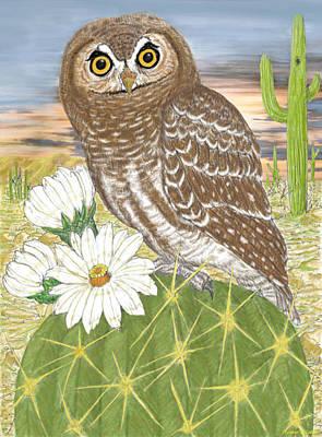 Elf Owl Art Print by Walter Colvin