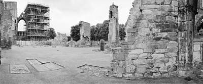 Elgin Cathedral Ruins Original by Jan W Faul