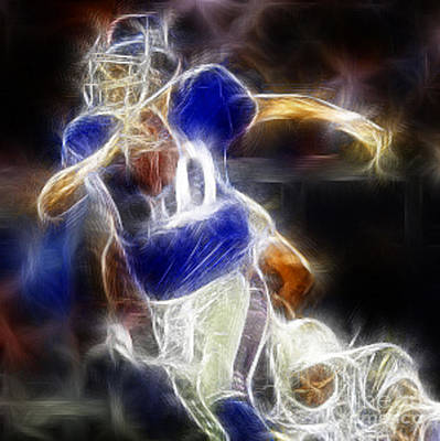 Eli Manning Quarterback Art Print by Paul Ward