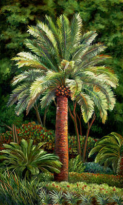 Painting - Elite Palm In Greens by Nancy Tilles