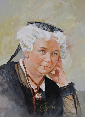 Elizabeth Cady Stanton Art Print by Cliff Spohn