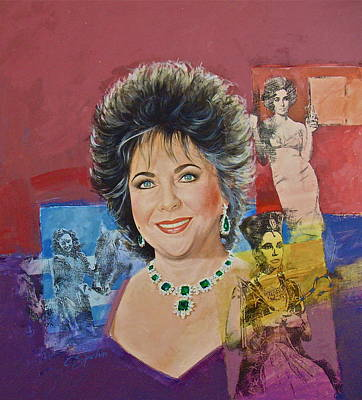 Painting - Elizabeth Taylor by Cliff Spohn