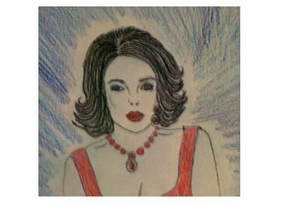 Woman Drawing - Elizabeth Taylor by De Beall