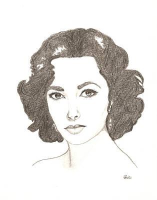 Elizabeth Taylor Drawing - Elizabeth Taylor by Kiana Gonzalez