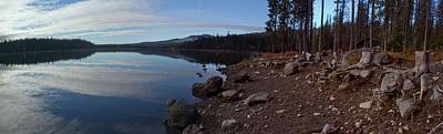 Elk Lake Panorama Art Print by Twenty Two North Photography