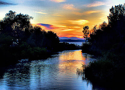 Elk Rapids Sunset Art Print by Matthew Winn