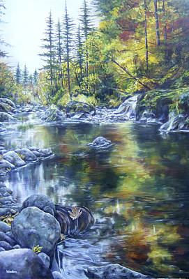 North Fork Painting - Elkhorn Gold by Denise Sanders