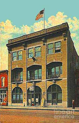 Painting - Elk's Club And Vaudeville Theatre In Belleaire Oh In 1910 by Dwight Goss