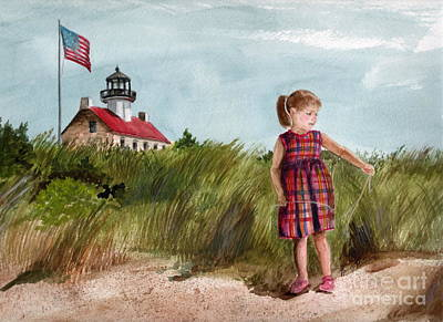 Painting - Ella At East Point Light by Nancy Patterson