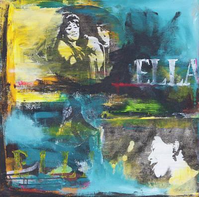 Trombone Mixed Media - Ella by Robin Lee