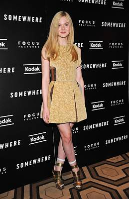 Elle Fanning Wearing A Rodarte Dress Art Print by Everett