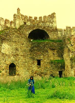 Photograph - Ellen At The Castle by Lou Ann Bagnall