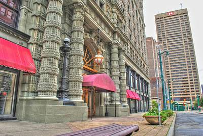 Art Print featuring the photograph Ellicott Square Building And Hsbc by Michael Frank Jr