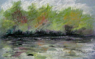 Pastel - Ellijay Creek Two by Gretchen Allen