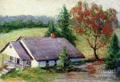 Pastel - Ellijay Home by Gretchen Allen