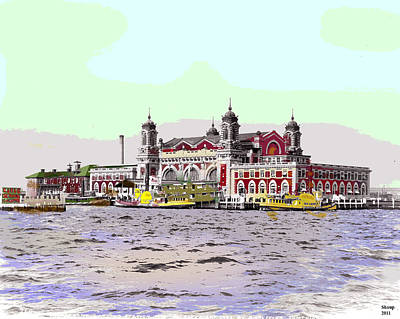 1-charles-shoup.fineartamerica.com Mixed Media - Ellis Island by Charles Shoup