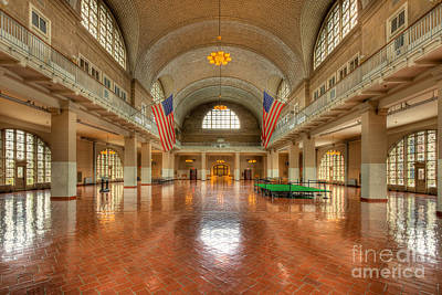 Photograph - Ellis Island Registry Room IIi by Clarence Holmes
