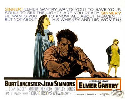 Elmer Gantry, Jean Simmons, Burt Art Print