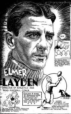 Elmer Layden Art Print by Steve Bishop