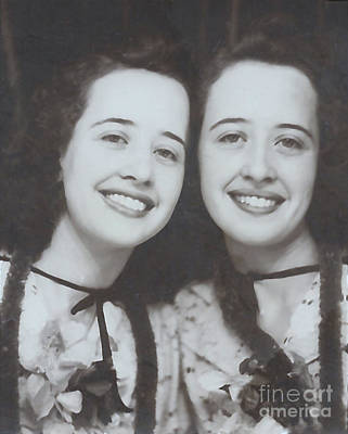 Photograph - Elna And Her Twin At The Stampede by Donna Munro