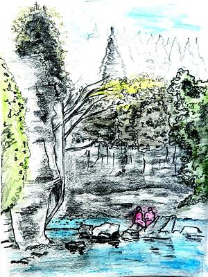 Elora Sketch Art Print by Musat Iliescu