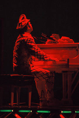 Elton In The Red Art Print by Scott Smith