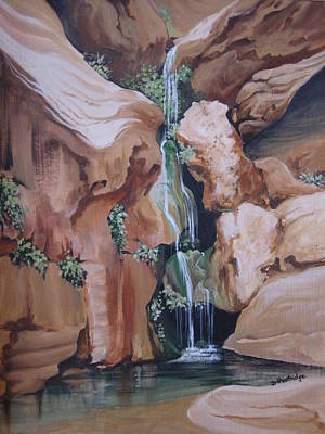Painting - Elves Chasm by Barbara Prestridge