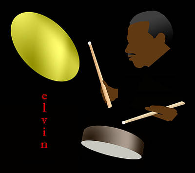 Jazz Digital Art - Elvin Jones by Victor Bailey