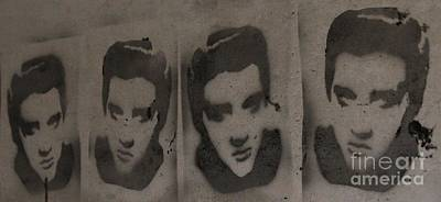 Stencil Of Elvis Photograph - Elvis - A Bunker Tribute by Unknown