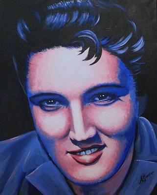 Painting - Elvis - The King by Anne Gardner