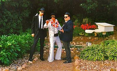 Elvis Impersonators Photograph - Elvis And The Blues by Randy Rosenberger