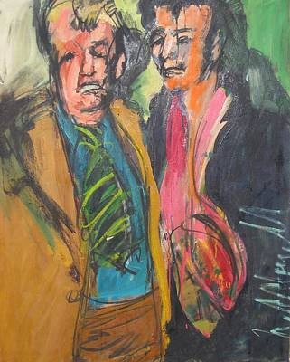 Painting - Elvis And Vern by Les Leffingwell