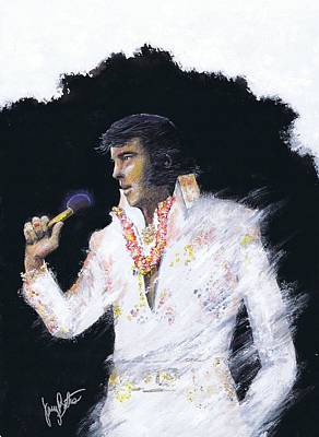 Elvis In Concert Art Print