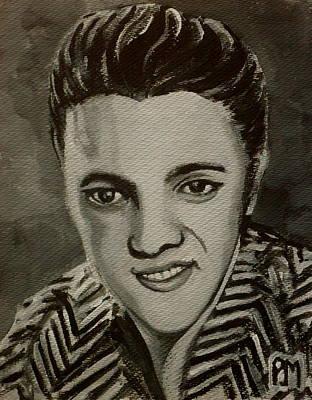 Elvis In Z Shirt Art Print by Pete Maier