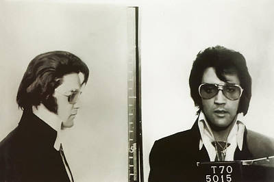 The King Digital Art - Elvis Mugshot 1970 by Bill Cannon