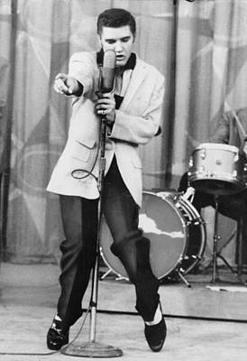 1950s Tv Photograph - Elvis Presley 1935-1977, Performs by Everett