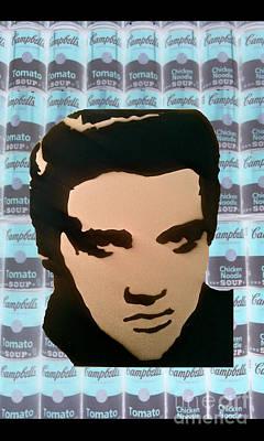 Elvis Soup Art Print