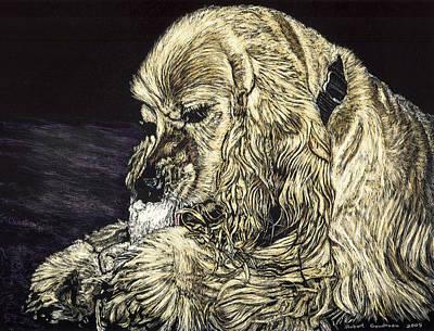 Elvis The Dog Art Print by Robert Goudreau