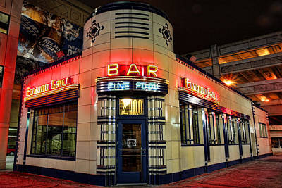 Detroit Tigers Art Photograph - Elwood Bar And Grill Detroit Michigan by Gordon Dean II