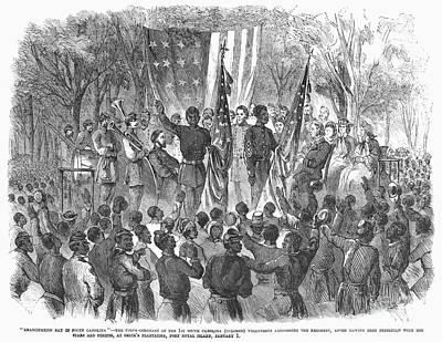 Emancipation, 1863 Art Print by Granger