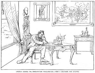 Emancipation Cartoon Art Print by Granger