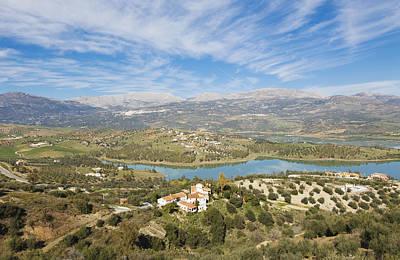 Embalse De La Viñuela, Vinuela Reservoir, Spain Art Print by Ken Welsh