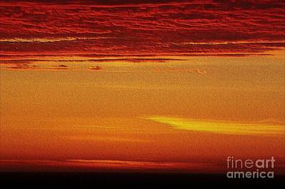 Digital Art - Embossed Ocean Sunset by Erica Hanel