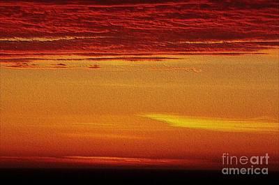 Digital Art - Embossed Ocean Sunset by Erica Hanel