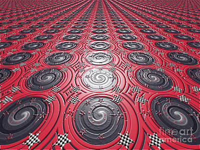 Embossed Record Tiles Art Print by Jeannie Atwater Jordan Allen