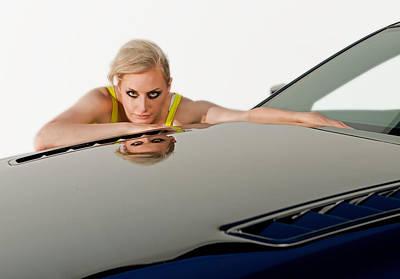 Embracing Her Car Art Print