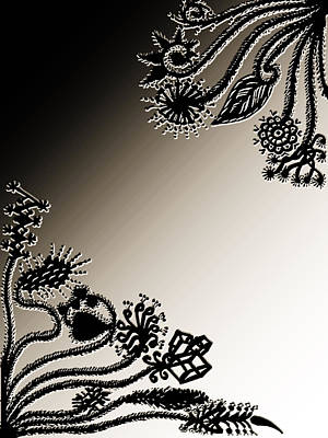 Embroidery Digital Art - Embroidery At Corners by Sumit Mehndiratta