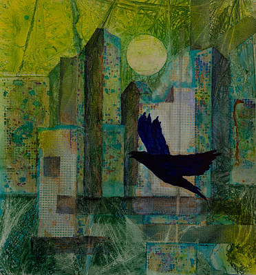 Representative Abstract Mixed Media - Emerald City by David Raderstorf