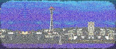 Sound Digital Art - Emerald City Sailing by Tim Allen